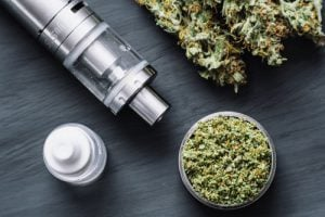 Sativa Marijuana and Vaporizer