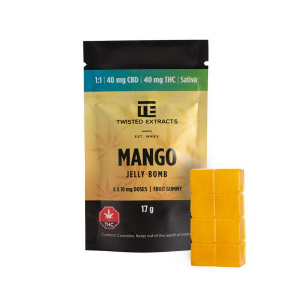 Sativa Mango Jelly Bombs from Twisted Extracts