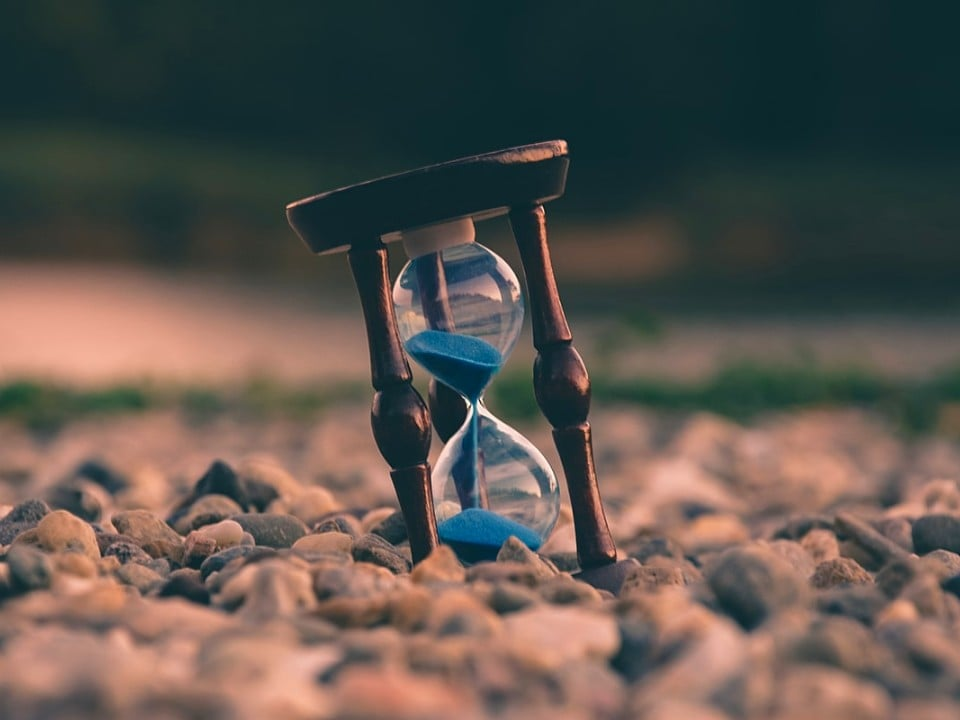 hourglass in nature