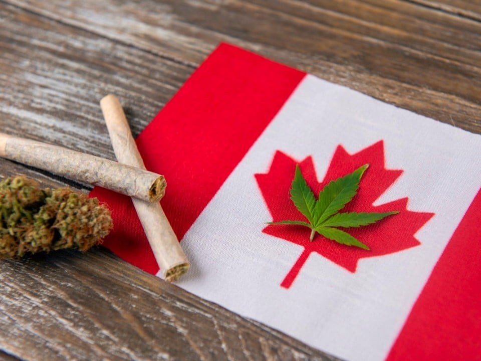 cannabis legality canada flag